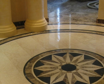 The elegance and beauty of the marble floor
