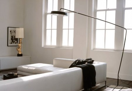 Floor lamps in the interior