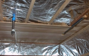 Ways to insulate the roof of the bath independently