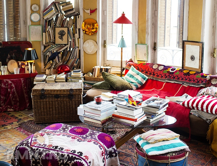 "Interior design in the style of ""boho"""