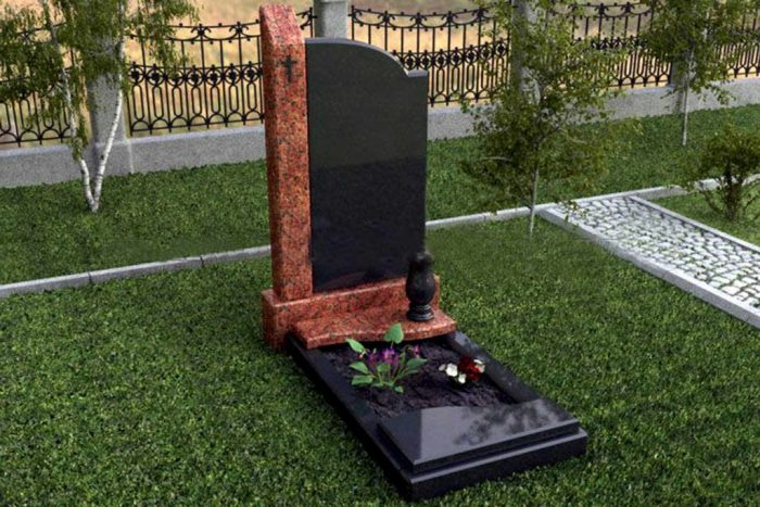 Tombstones and monuments of granite