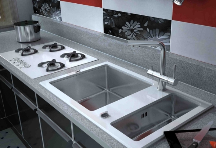 Sinks ZORG - ergonomic organization of the working area in the kitchen