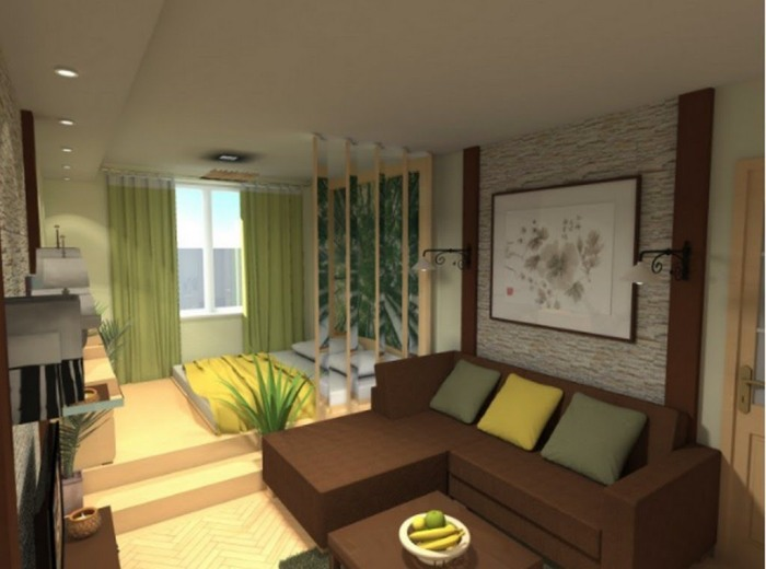 Design options for one-bedroom apartment for a family with a child